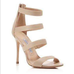 Charles David Nude Strappy High-Heel Sandal